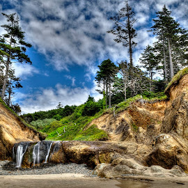 Hug Point by Doug Keder - Landscapes Beaches