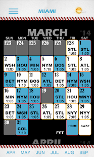 Baseball Pocket Sked - Marlins - screenshot