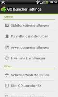 Screenshot of GO LauncherEX German language