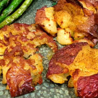 Crushed and Crunchy Red Potatoes