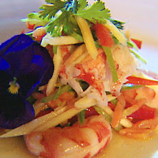 Salad of Green Mango with Prawn and Lobster Tail and Lime-Chili Dressing