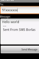 Screenshot of SMS Free Borlas - Portugal