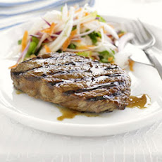 Teriyaki Steak With Fennel Slaw