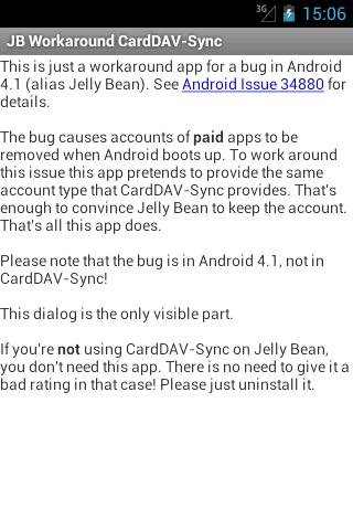JB Workaround CardDAV-Sync