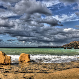 Gnejna Bay by Mario Borg - Landscapes Cloud Formations ( gnejna bay, hdr, malta, clouds and sea )