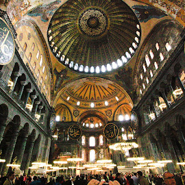 by Catherine Tolton - Buildings & Architecture Places of Worship ( religion, interior, building, byzantine, hagia sophia, greek orthodox, ceiling, constantinople, architecture, museum, turkey, istanbul, Architecture, Ceilings, Ceiling, Buildings, Building )