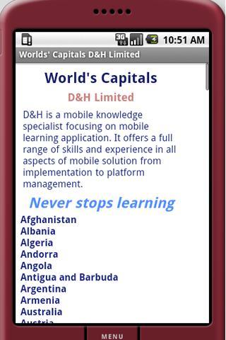 World Capitals Dictionary