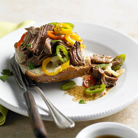 Open-Face Italian Beef Sandwiches