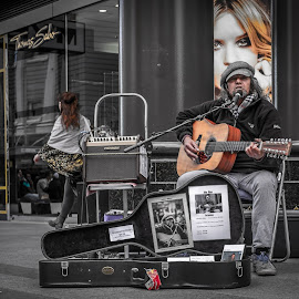 Rundle Mall by James Lewis - People Musicians & Entertainers