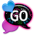 GO SMS - Peace N Love Hearts icon