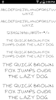 Screenshot of Fonts for FlipFont #18