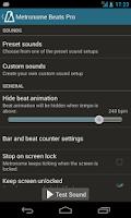 Screenshot of Metronome Beats Pro