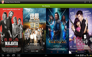 Screenshot of Penang Movie Showtime