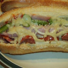 Delicious Oven Pizza Sub Sandwiches