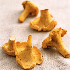 Roasted chanterelle mushrooms