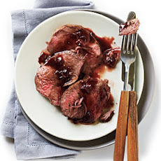 Beef Tenderloin with Cherry-Black Pepper Sauce