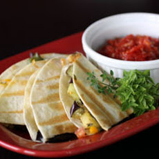Roasted Eggplant and Pepper Quesadillas