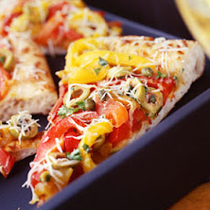 Roasted Bell Pepper-and-Olive Pizza
