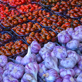 Scent of Mediterranean by Robert Namer - Nature Up Close Gardens & Produce ( cityscapes, natural light, garlic, nature, food, close up, city market, tomatoes, natural,  )