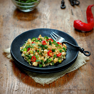 Warm Cauliflower Couscous with Lemon and Chiles