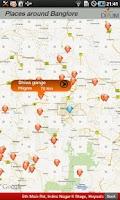 Screenshot of Places around Bangalore