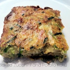 Baked Zucchini and Potato Kuku