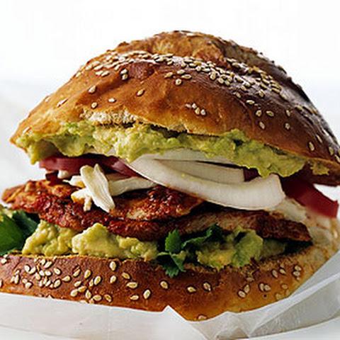 Chile-Marinated Pork Sandwiches on Cemita Rolls