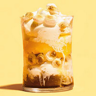 Root Beer & Orange Slushie Sundaes with Toasted Marshmallows