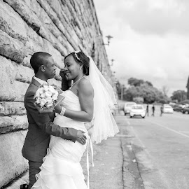 Wedding  by Deejay Busang - Wedding Bride & Groom ( love, b&w, busang, forever, wedding, family, busang photography, union, beautiful, union buildings, marriage )