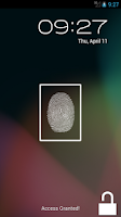 Screenshot of Fake Finger Scanner