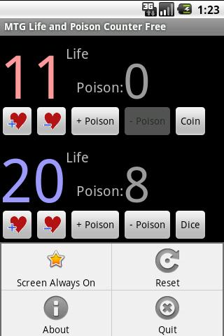 MTG Life Poison Counter Free