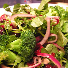 Watercress and Broccoli Salad with Dried Cranberries