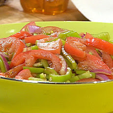 Tomato, Pepper and Onion Salad