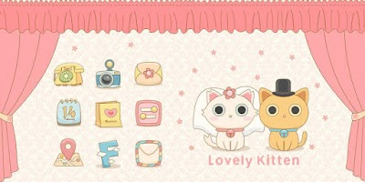 Screenshot of Lovely Kitten GO LauncherTheme