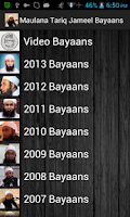 Screenshot of Maulana Tariq Jameel Bayaans