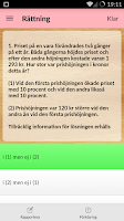 Screenshot of iHögskoleprov