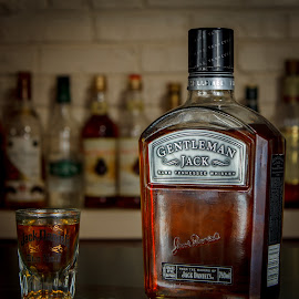 The Gentleman by David Starr - Food & Drink Alcohol & Drinks ( flash, jack, booze, kit lens, shot )