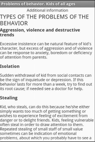 Behavioral disorder in child