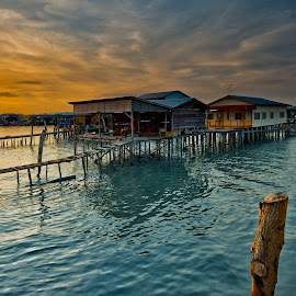 Dusk at Palau Ketam - Malaysia. by John Chung - Buildings & Architecture Homes