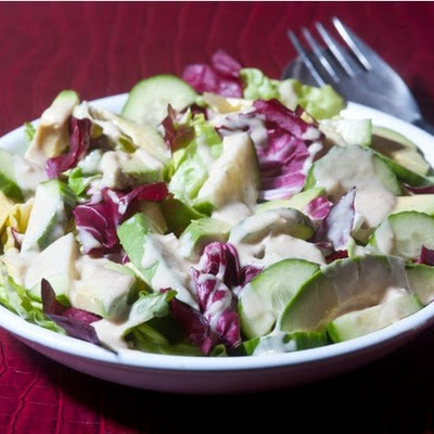 Ripe's Radicchio Salad with Tahini Lemon Drizzle