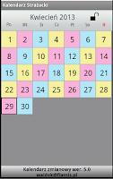Screenshot of Kalendarz zmianowy