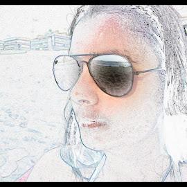 Auto retrato by Lia Ribeiro - Digital Art People