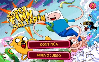 Screenshot of Hora de aventura Finn Saltarín