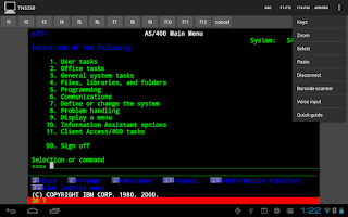 Screenshot of Mocha TN5250 LITE