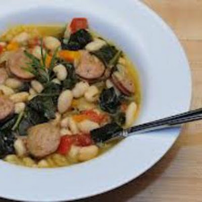 Chicken Sausage & White Bean Soup