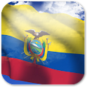 3D Ecuador Flag + icon