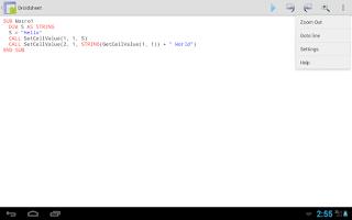 Screenshot of Droidsheet