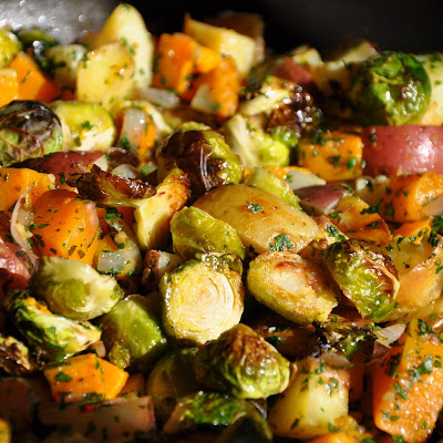 Roasted Autumn Vegetables with Fresh Herbs