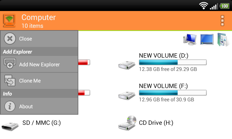 WiFi PC File Explorer Pro Screenshot 2