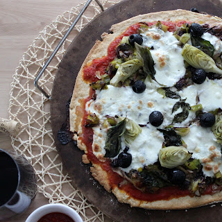Rustic Radicchio and Leek Pizza